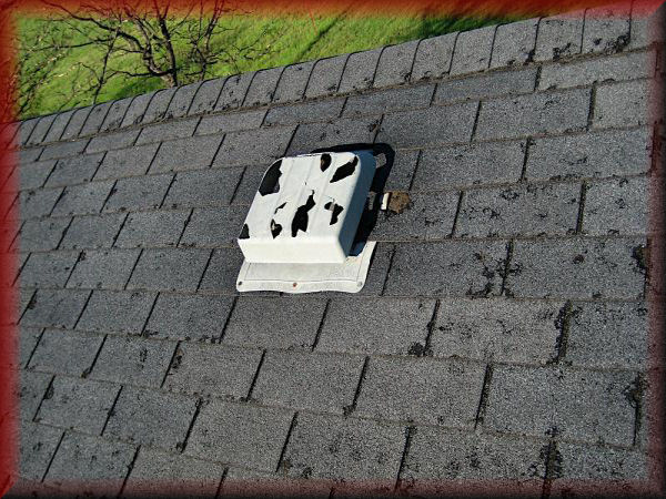 how to make hail damage on roof